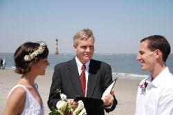 Beach wedding on Folly Beach